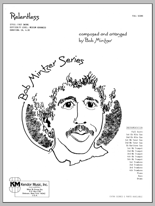 Bob Mintzer Relentless - Full Score sheet music preview music notes and score for Jazz Ensemble including 12 page(s)
