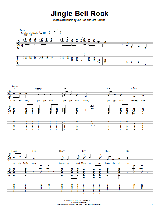 Download Bobby Helms 'Jingle Bell Rock' Digital Sheet Music Notes & Chords and start playing in minutes