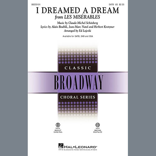Boublil and Schonberg I Dreamed A Dream (from Les Miserables) (arr. Ed Lojeski) profile picture