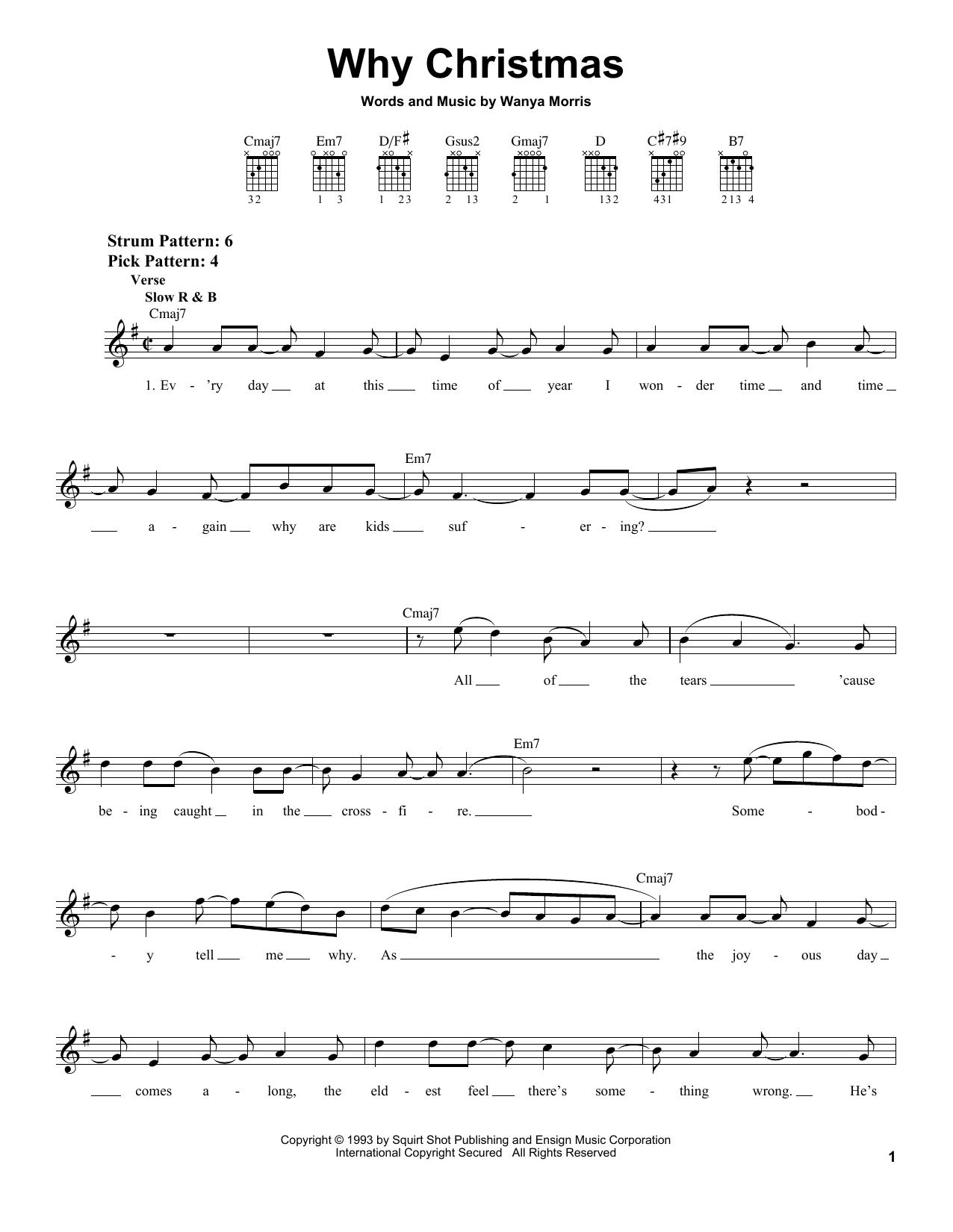Boyz II Men Why Christmas sheet music notes and chords