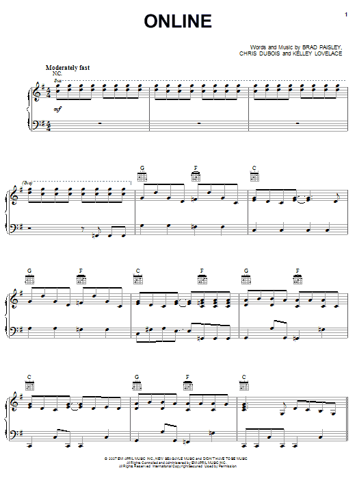 Brad Paisley Online sheet music preview music notes and score for Guitar Tab including 15 page(s)