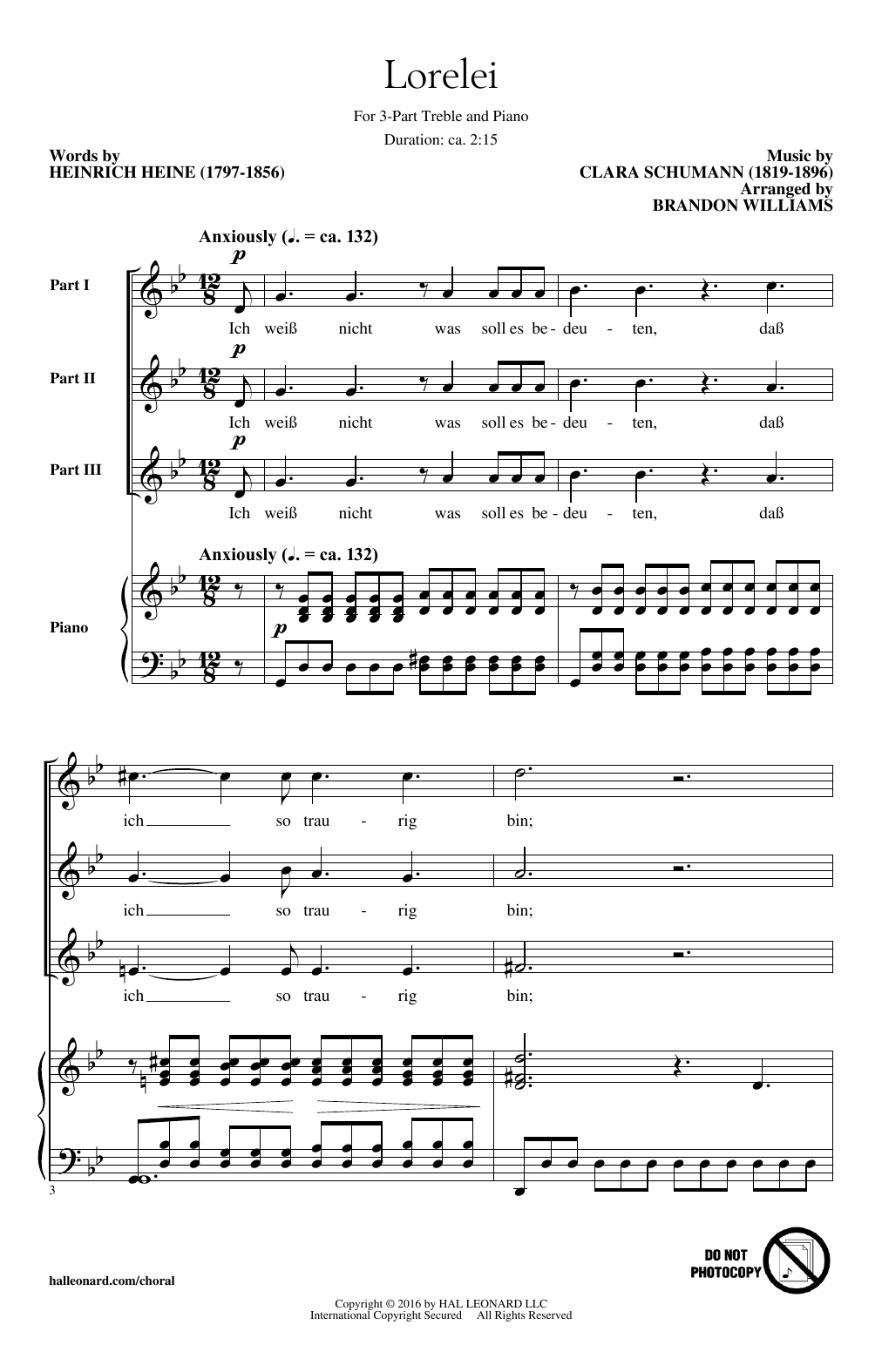 Download Brandon Williams 'Lorelei' Digital Sheet Music Notes & Chords and start playing in minutes