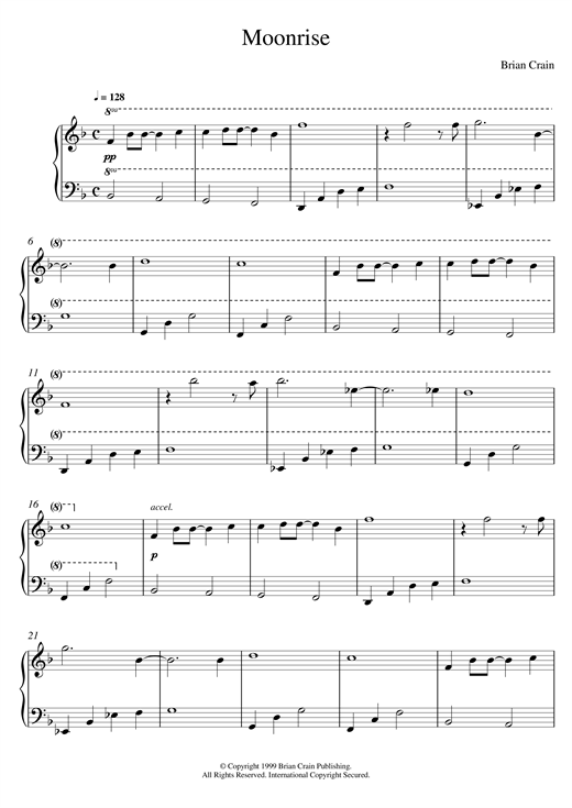 Download Brian Crain 'Moonrise' Digital Sheet Music Notes & Chords and start playing in minutes