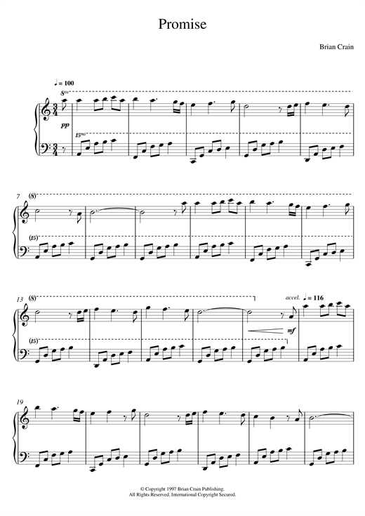 Download Brian Crain 'Promise' Digital Sheet Music Notes & Chords and start playing in minutes