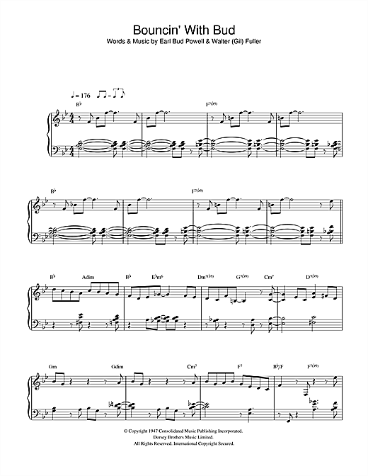 Download Bud Powell 'Bouncing With Bud' Digital Sheet Music Notes & Chords and start playing in minutes