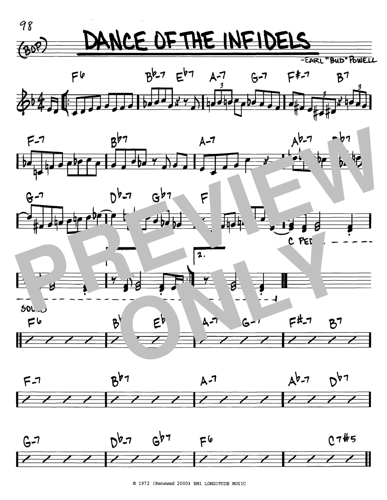 Download Bud Powell 'Dance Of The Infidels' Digital Sheet Music Notes & Chords and start playing in minutes