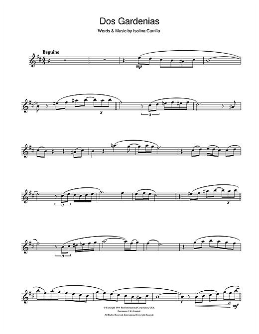 Buena Vista Social Club Dos Gardenias sheet music notes and chords