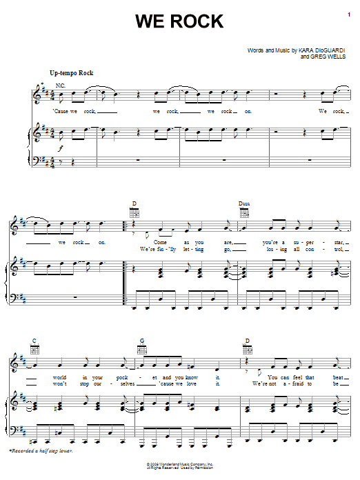 Download Camp Rock (Movie) 'We Rock' Digital Sheet Music Notes & Chords and start playing in minutes
