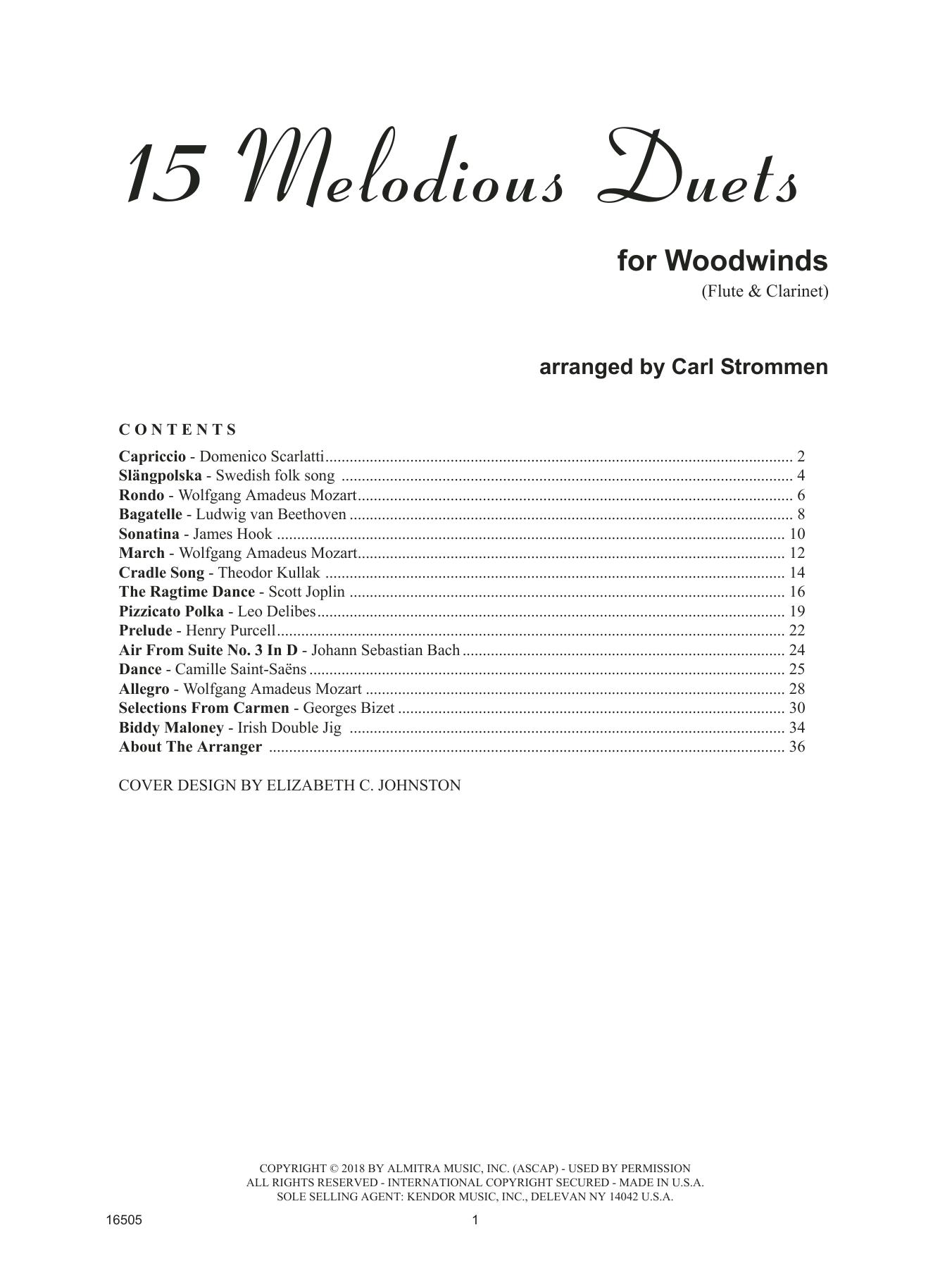 Carl Strommen 15 Melodious Duets sheet music preview music notes and score for Brass Ensemble including 34 page(s)