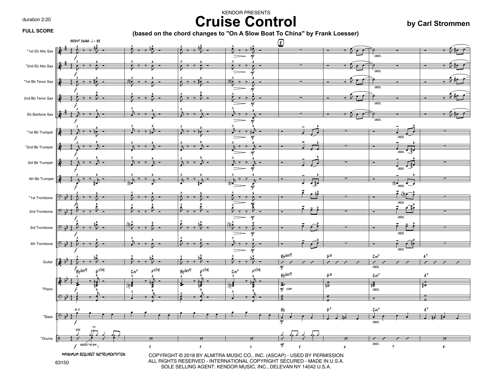 Carl Strommen Cruise Control - Full Score sheet music preview music notes and score for Jazz Ensemble including 12 page(s)