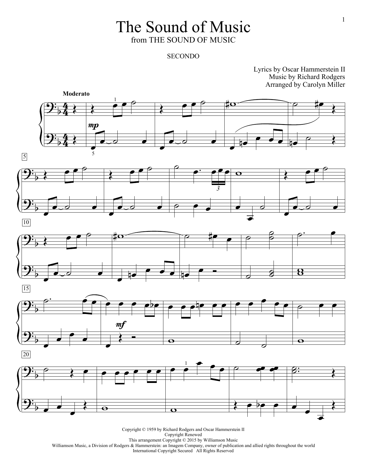 Download Carolyn Miller 'The Sound Of Music' Digital Sheet Music Notes & Chords and start playing in minutes