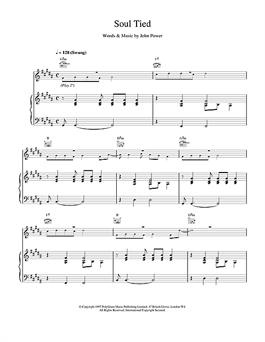 Cast Soul Tied sheet music notes and chords
