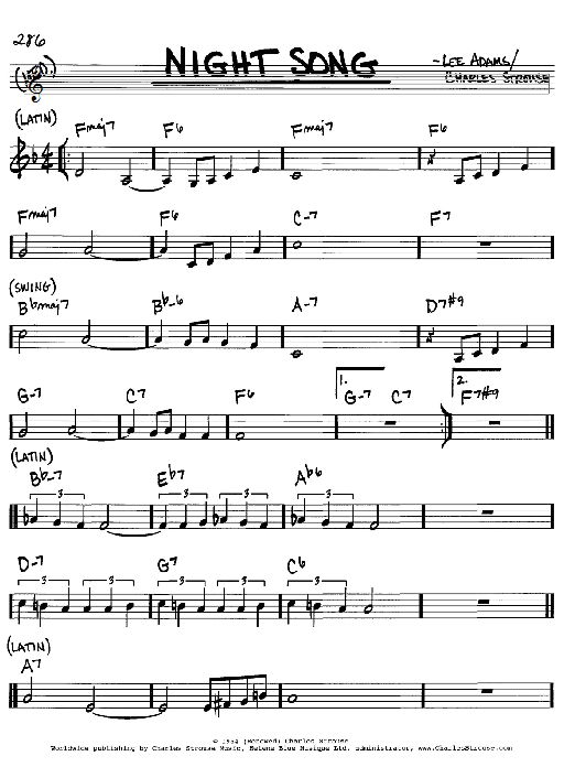 Download Charles Strouse 'Night Song' Digital Sheet Music Notes & Chords and start playing in minutes
