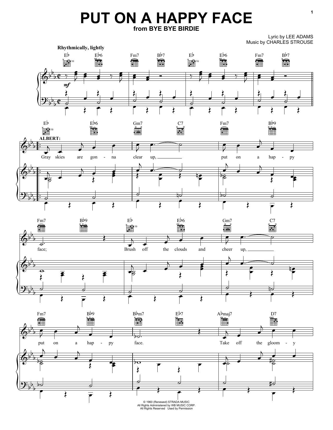 Download Charles Strouse 'Put On A Happy Face' Digital Sheet Music Notes & Chords and start playing in minutes