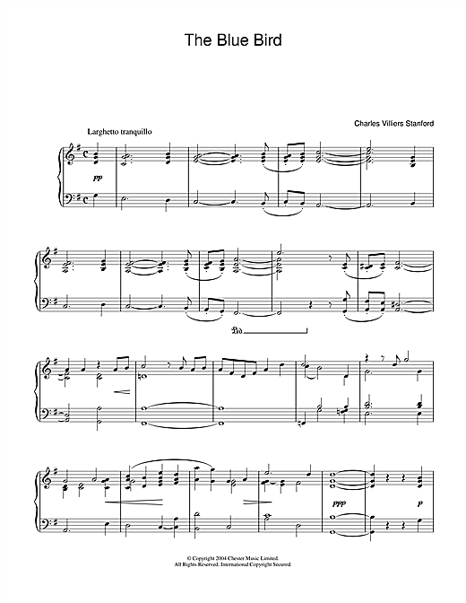 Download Charles Villiers Stanford 'Blue Bird' Digital Sheet Music Notes & Chords and start playing in minutes