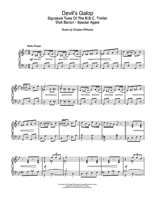 Download Charles Williams 'Devil's Galop (Theme to Dick Barton)' Digital Sheet Music Notes & Chords and start playing in minutes