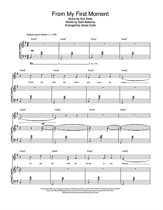 Charlotte Church From My First Moment sheet music notes and chords