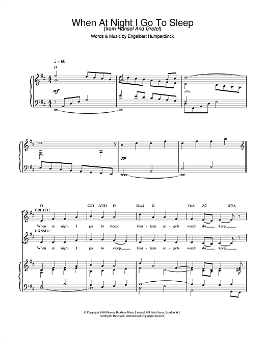 Charlotte Church When At Night I Go To Sleep sheet music notes and chords
