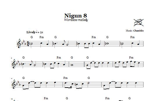 Download Chasidic 'Nigun 8 (Wordless Melody)' Digital Sheet Music Notes & Chords and start playing in minutes