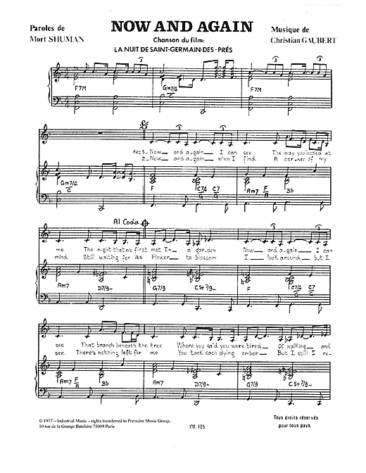 Christian Gaubert Now And Again sheet music notes and chords