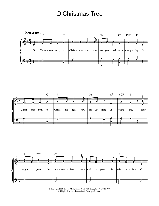 Download Christmas Carol 'O Christmas Tree' Digital Sheet Music Notes & Chords and start playing in minutes