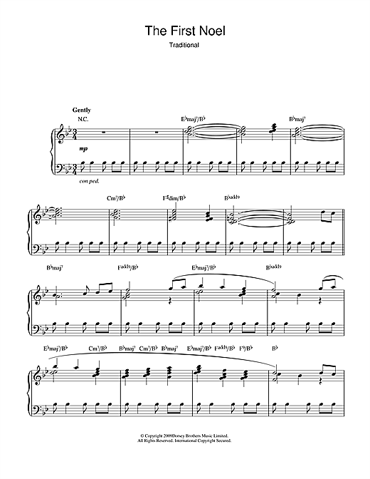 Download Christmas Carol 'The First Nowell (jazz version)' Digital Sheet Music Notes & Chords and start playing in minutes
