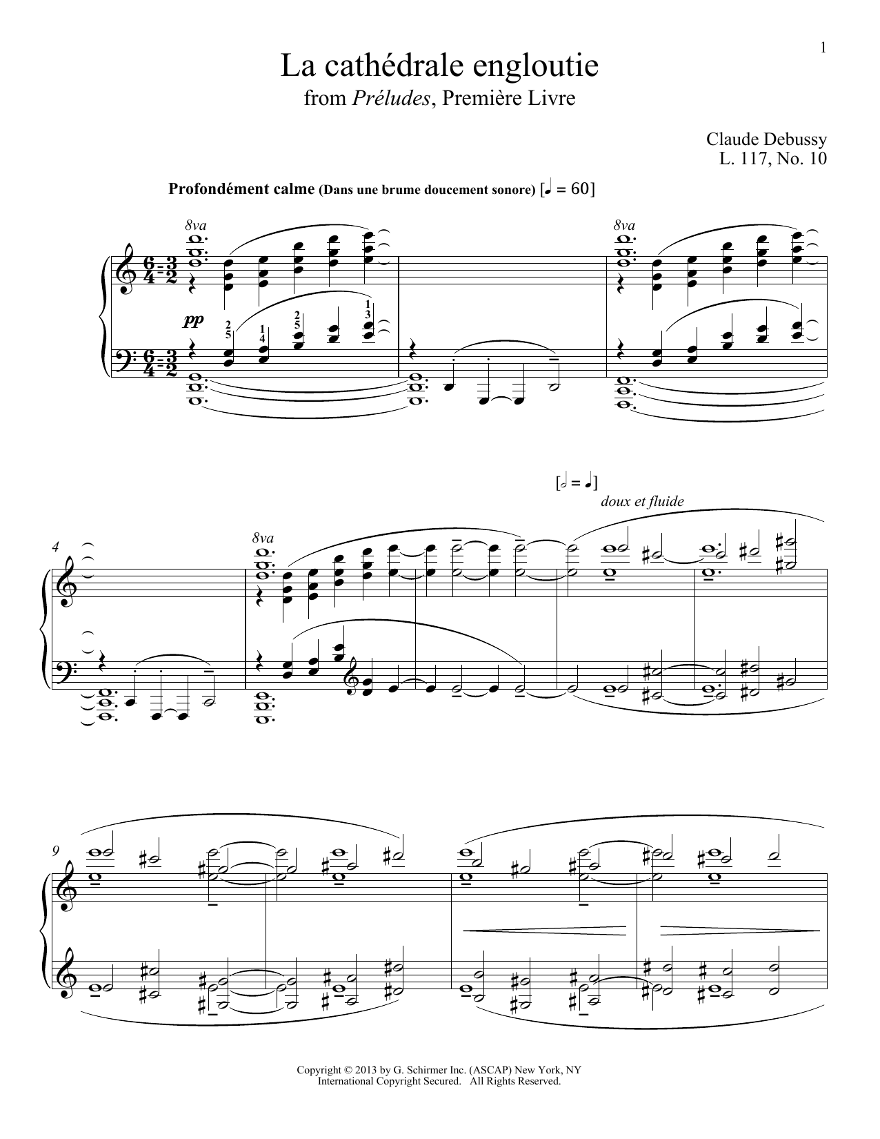 Download Claude Debussy 'La Cathedrale Engloutie' Digital Sheet Music Notes & Chords and start playing in minutes