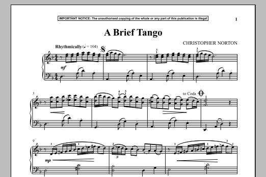 Download Christopher Norton 'A Brief Tango' Digital Sheet Music Notes & Chords and start playing in minutes