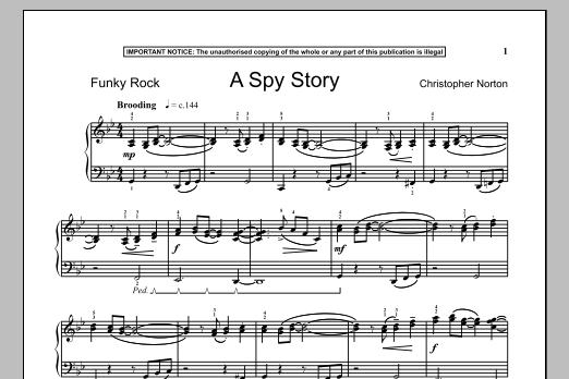 Christopher Norton A Spy Story sheet music notes and chords