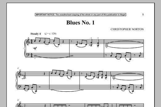 Download Christopher Norton 'Blues No. 1' Digital Sheet Music Notes & Chords and start playing in minutes