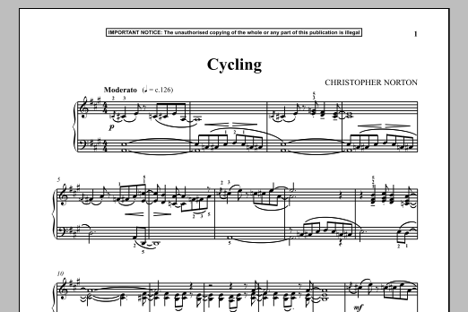 Download Christopher Norton 'Cycling' Digital Sheet Music Notes & Chords and start playing in minutes