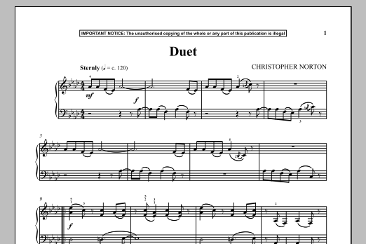 Download Christopher Norton 'Duet' Digital Sheet Music Notes & Chords and start playing in minutes