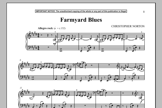 Download Christopher Norton 'Farmyard Blues' Digital Sheet Music Notes & Chords and start playing in minutes