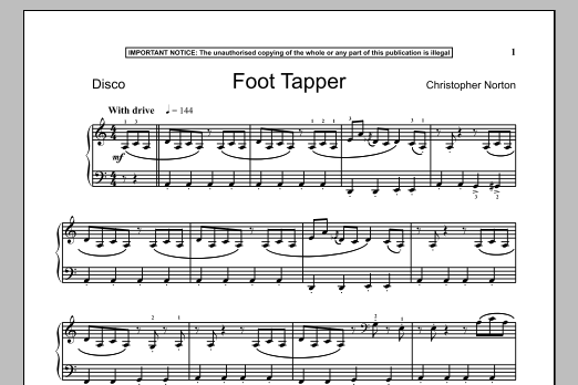 Download Christopher Norton 'Foot Tapper' Digital Sheet Music Notes & Chords and start playing in minutes