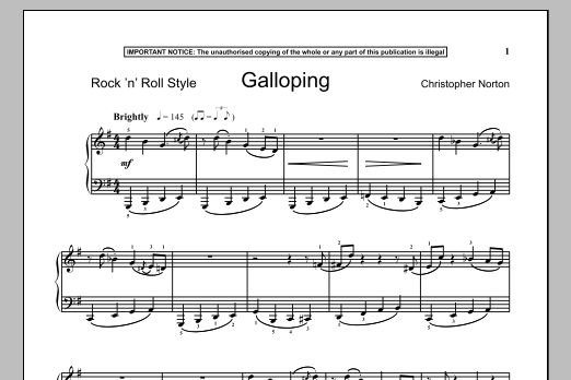 Christopher Norton Galloping sheet music notes and chords