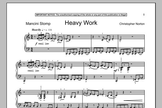 Download Christopher Norton 'Heavy Work' Digital Sheet Music Notes & Chords and start playing in minutes