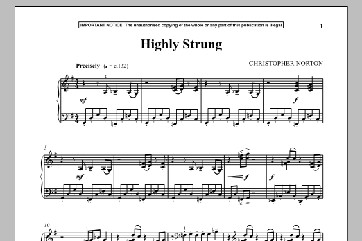 Christopher Norton Highly Strung sheet music notes and chords