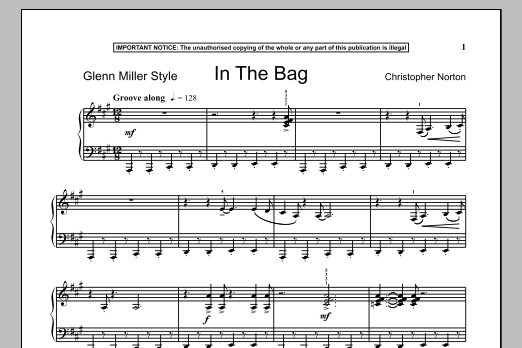 Download Christopher Norton 'In The Bag' Digital Sheet Music Notes & Chords and start playing in minutes