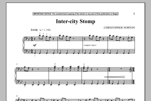 Download Christopher Norton 'Inter-City Stomp' Digital Sheet Music Notes & Chords and start playing in minutes
