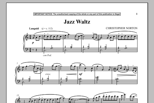 Download Christopher Norton 'Jazz Waltz' Digital Sheet Music Notes & Chords and start playing in minutes