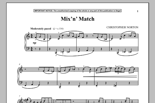 Download Christopher Norton 'Mix N Match' Digital Sheet Music Notes & Chords and start playing in minutes
