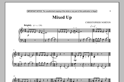Download Christopher Norton 'Mixed Up' Digital Sheet Music Notes & Chords and start playing in minutes