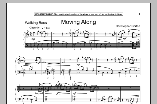 Download Christopher Norton 'Moving Along' Digital Sheet Music Notes & Chords and start playing in minutes