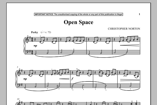 Christopher Norton Open Space sheet music notes and chords