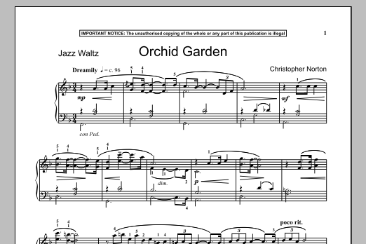 Download Christopher Norton 'Orchid Garden' Digital Sheet Music Notes & Chords and start playing in minutes
