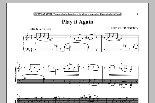 Download Christopher Norton 'Play It Again' Digital Sheet Music Notes & Chords and start playing in minutes