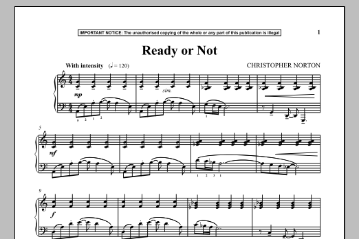 Christopher Norton Ready Or Not sheet music notes and chords