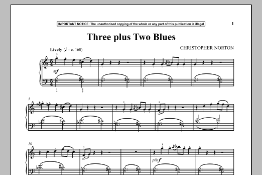 Download Christopher Norton 'Three Plus Two Blues' Digital Sheet Music Notes & Chords and start playing in minutes