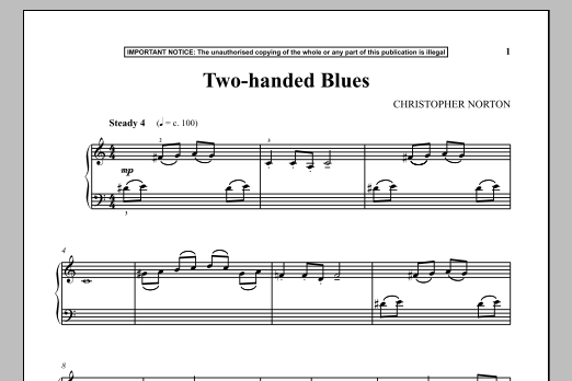 Download Christopher Norton 'Two-Handed Blues' Digital Sheet Music Notes & Chords and start playing in minutes
