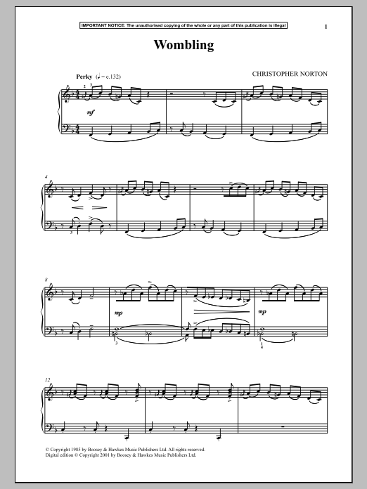 Download Christopher Norton 'Wombling' Digital Sheet Music Notes & Chords and start playing in minutes
